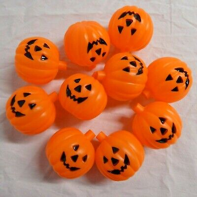 Jack-O-Lantern Blow Mold String Light 10 COVERS ONLY Vintage Halloween Pumpkins