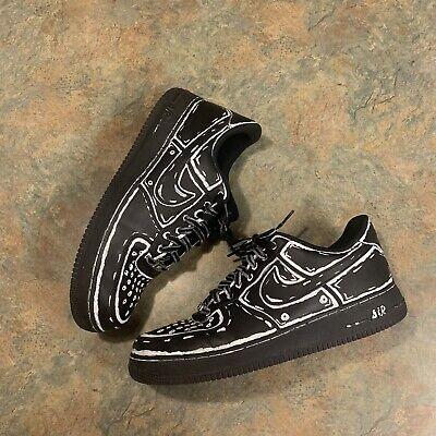 Nike Air Force 1 Low AF1 Custom  Denim SB Vlone Yeezy Cinder Jordan 11.5 Nike Air Force 1 Jordans