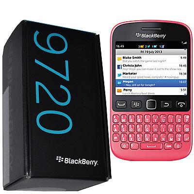 BNIB Blackberry 9720 Samoa Pink Factory Unlocked GSM 3G 2G QWERTY New Simfree