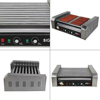 289 Sq. In. Stainless Steel Hot Dog Roller Grill Commercial Cooker Machine Big