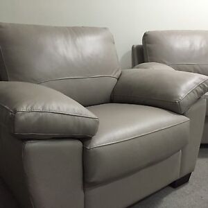 Freedom Lucas leather armchair and 3 seater sofa bed Gladesville Ryde Area Preview