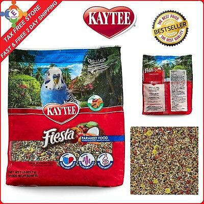 Kaytee Fiesta Max Bird Food for Parakeets PreBiotics Assorted Fruits 2 Pound