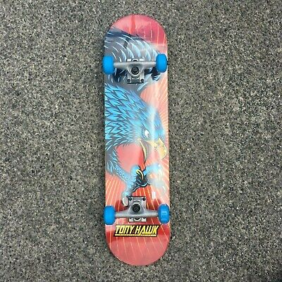 "TONY HAWK - COMPLETE PRE BUILT SKATEBOARD - SS 180 DIVING HAWK 7.75"" X 31"" INCH"