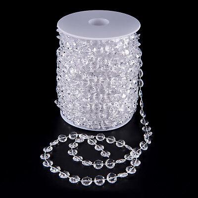 99 FT Garland Diamond Strand Acrylic Crystal Bead Beaded Wedding Decoration - Garland Wedding Decoration
