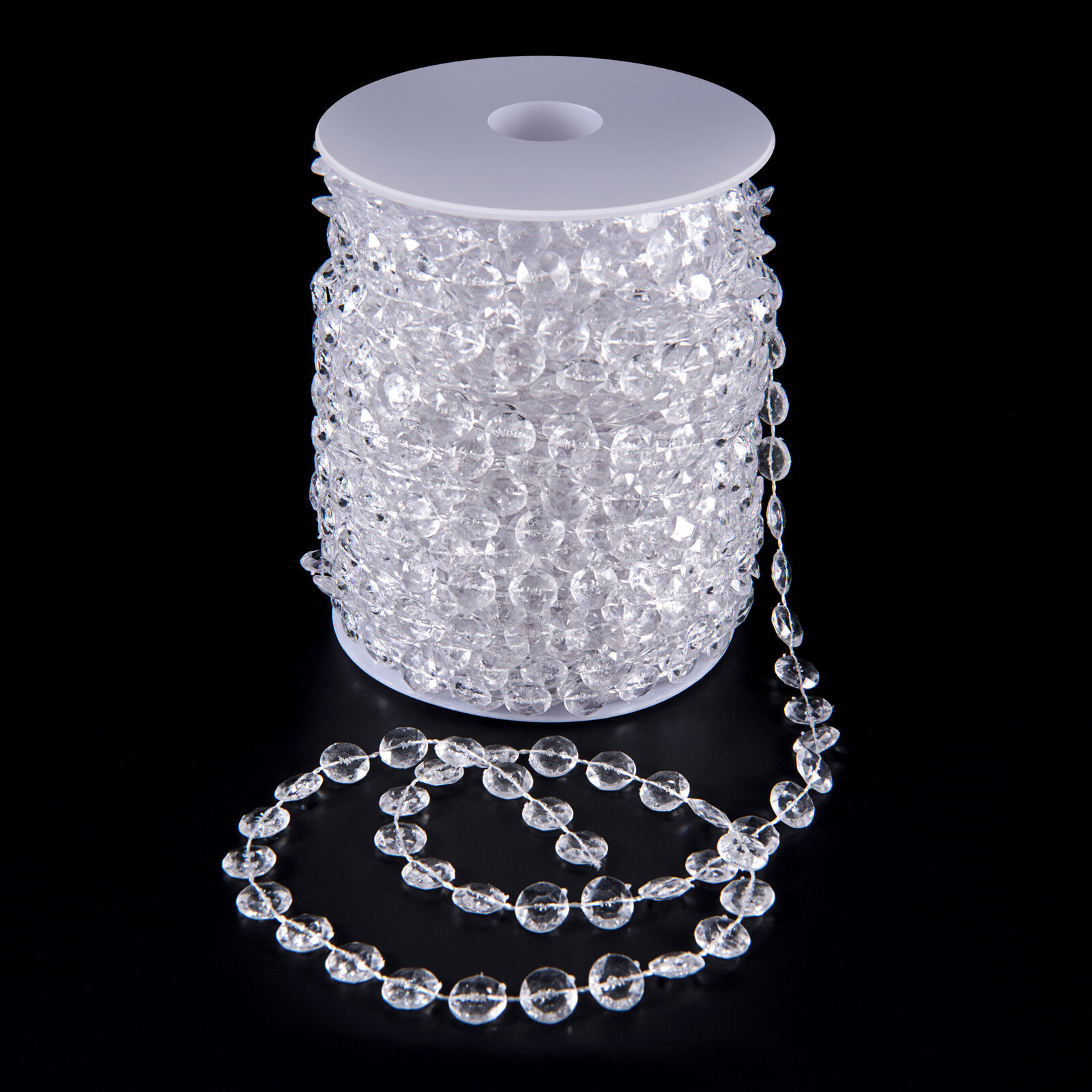 99 FT Garland Diamond Strand Acrylic Crystal Bead Beaded Wedding Decoration Home & Garden