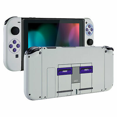Soft Touch SNES Style Console Back Plate W/ Controller Case for Nintendo -