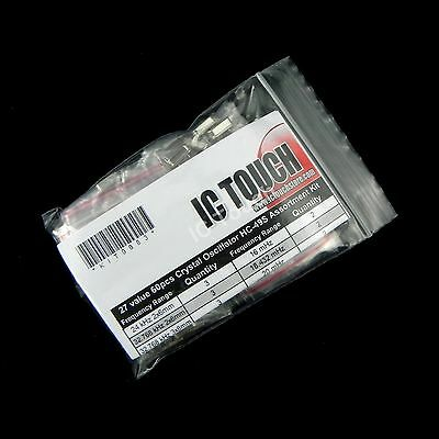 27value 60pcs Crystal Oscillator Hc-49s Assortment Kit