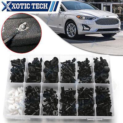 350x Car Retainer Plastic Fastener Push Trim Clips Pin Rivet Bumper Kit For Ford