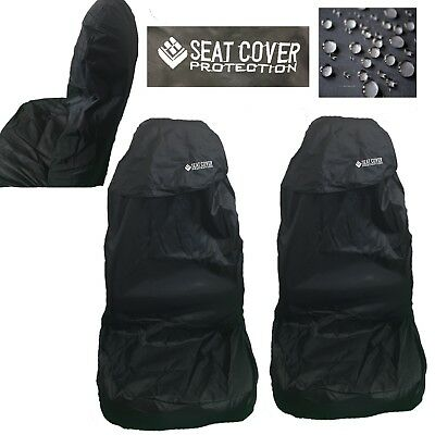 Universal Car Seat Covers Full Set All Black Washable For Audi A1 A2 A3 A4 90