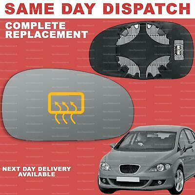For Seat Leon mk2 2005-2008 Convex Left side Clear wing door mirror glass replacement #SeLe-05//08-L/_c