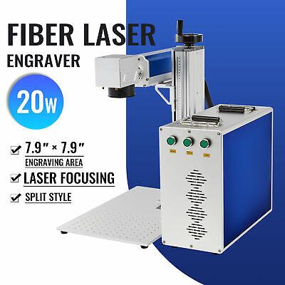Split Fiber Laser Marking Metal Laser Marker Engraver 7.9x 7.9 20w Raycus