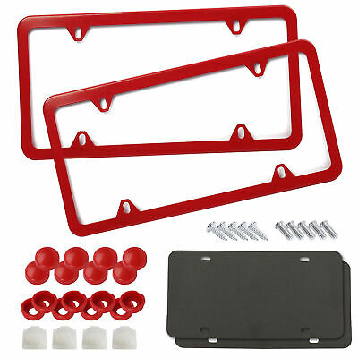 Red License Plate Frames Car License Plate Covers Holder Front & Rear US Size