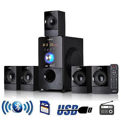 BLUETOOTH WIRELESS 5.1 CHANNEL SURROUND SOUND HOME HOUSE SPEAKER SYSTEM USB MP3