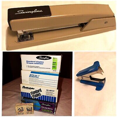 Vintage Lot Swingline Stapler 94-41 Staple Remover And Staples