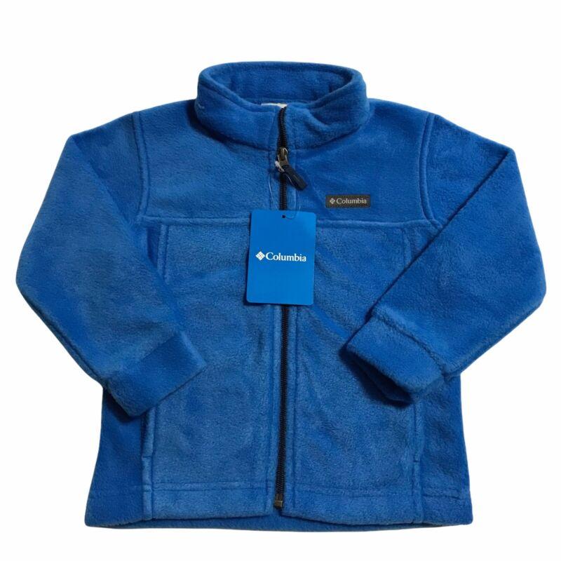 Columbia Toddler Boys Blue Fleece Zip Jacket  Size T3 Lightweight Comfy & Cozzy