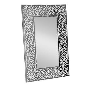 New Hand Crafted Mosaic Mirror Wall Hanging Mirror Home Decor 60 X 40cm Ebay