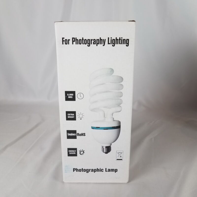 85W Photography Lighting Photo Studio Light Bulbs, Daylight Balanced 5500K