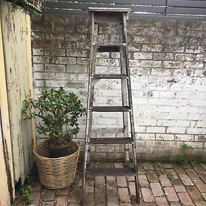 Rustic industrial timber painters ladder styling prop Leichhardt Leichhardt Area Preview