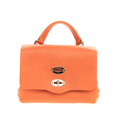 RRP €405 ZANELLATO POSTINA BABY Leather Satchel Bag Turnlock Flap Made in Italy