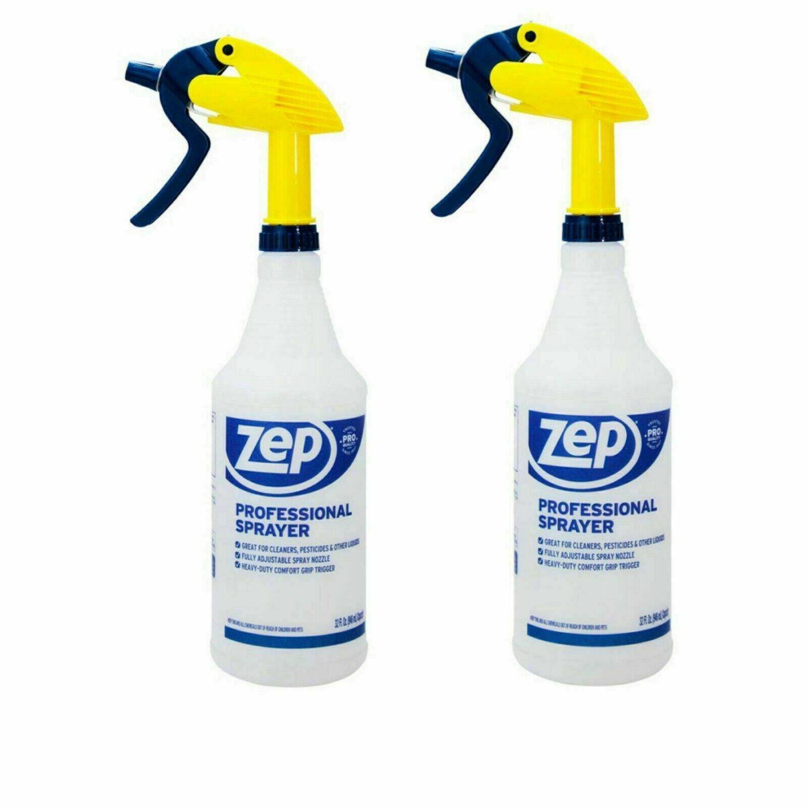 ZEP 32 Oz Ounce Spray Bottle 2 PCS Professional Leak Proof All Purpose INSTOCK
