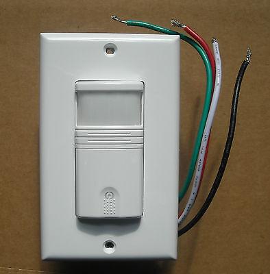 3 Way Occupancy Vacancy Wall Motion Sensor Detector 120v 277v Switch White