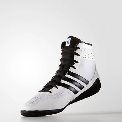 Adidas Mat Wizard 3 Wrestling Shoes White Boxing Boots Trainers Pumps