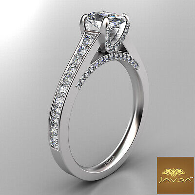Bridge Accent Oval Diamond Engagement Cathedral Ring GIA Certified F VVS1 1.25Ct 2