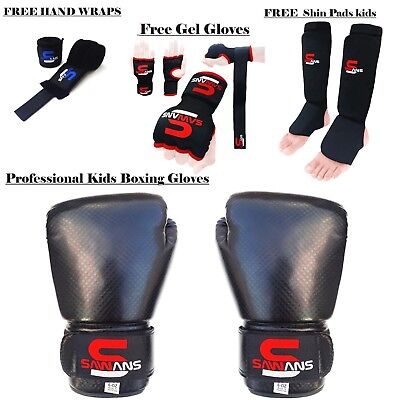 Best Deal Kids Boxing Gloves Gel Gloves Shin pads Hand Wraps MMA Muay Thai