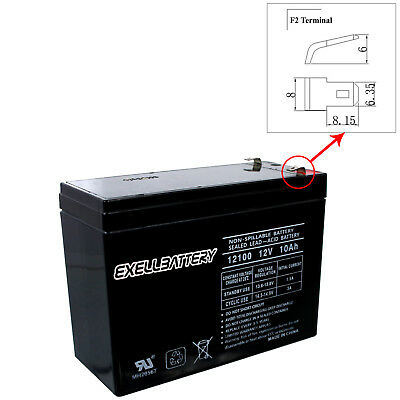 Exell 12V 10Ah SLA Battery Rechargeable AGM replaces UB12100