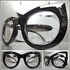 51fbfb705064 Oversized Vintage Retro Style Clear Lens EYE GLASSES Thick Black Fashion  Frame