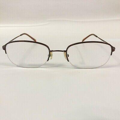 Luxottica Memorize 6521 Eyeglasses Frames Brown Half Rim (Luxottica Glasses Frames)