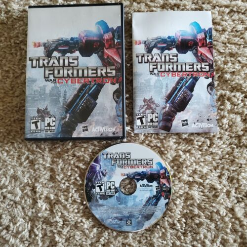 Computer Games - Transformers War For Cybertron (PC 2010) Computer Game Complete RARE