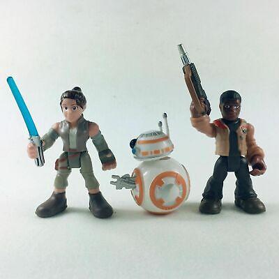 Playskool Star Wars Galactic Heroes Last Jedi Rey + BB-8 + Finn Figures Xmas Toy