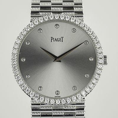 Piaget  9066N G2 Mecanique, Mens, 18K White Gold, Diamond Bezel and Dial