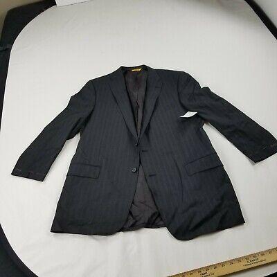 nwot Hickey Freeman Suit Jacket Grey 42 Regular Gray Pinstripe blazer sport coat
