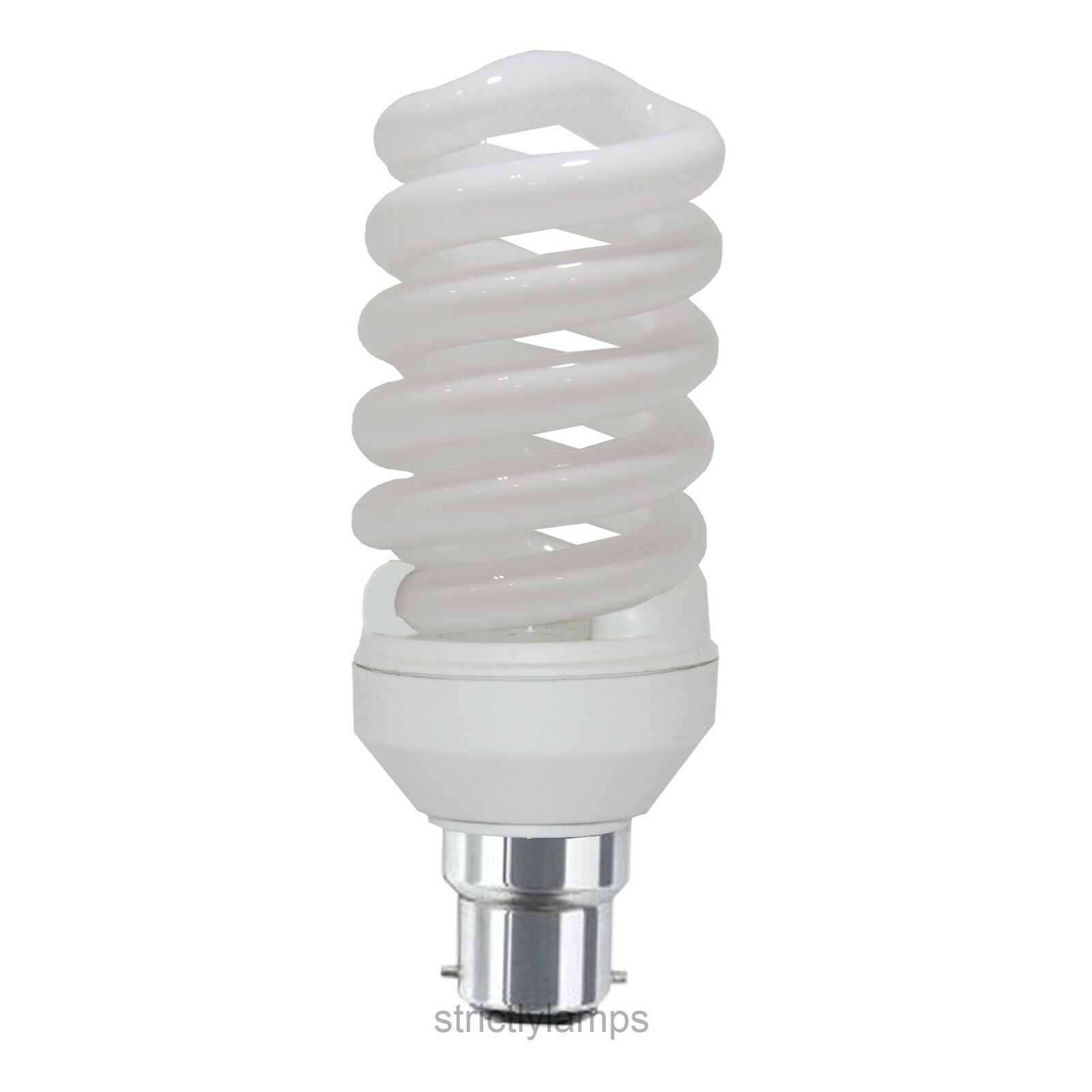 cool white 35w energy saving spiral light bulb bayonet cap. Black Bedroom Furniture Sets. Home Design Ideas