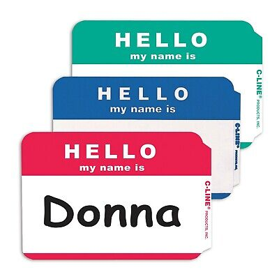 100 - Hello My Name Is Name Badges - Mix Colors - Tags Labels Id Stickers Peel