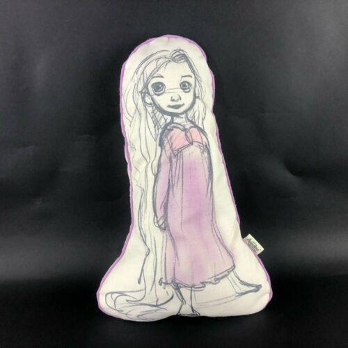 "Disney Animators Collection Tangled Rapunzel Sketch Print 16"" Plush Throw Pillow"