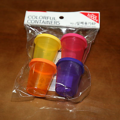 Dressing Bento Sauce Containers 4PCs Lunch boxe Mini Dippers Small Dip Condiment Bento-sauce