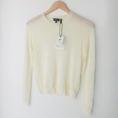 NWT DEFECT THEORY Yulia D Ivory Crimp Knit Sheer Long Sleeve Top M $225