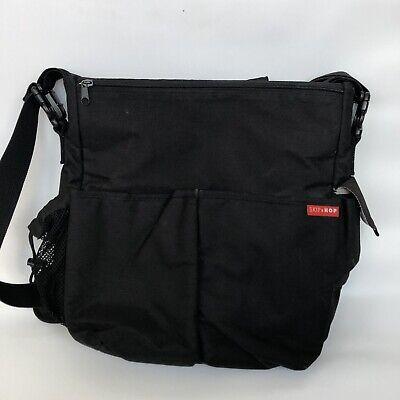 Skip hop duo diaper bag cross body black Baby pockets stroller