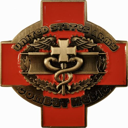 """US Army Combat Medic Challenge Coin 68W 2"""" 143"""