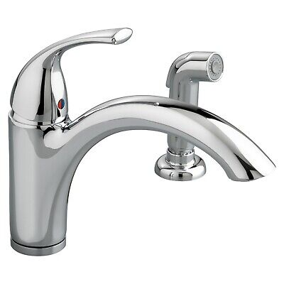 American Standard Spray Faucet - American Standard Quince 1 Handle Chrome Kitchen Faucet w/Side Spray 4433001 NIB