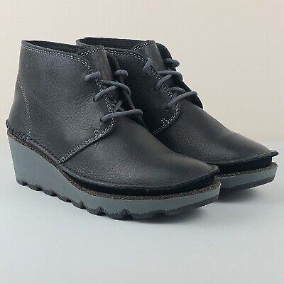 CLARKS DAMARA IVY Black Leather Desert Boots UK 4.5 D   EUR 37.5   US 7 M