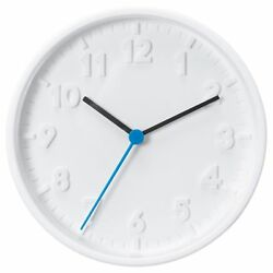 NEW IKEA STOMMA BATTERY OPERATED WHITE WALL CLOCK NO DISTURBING TICKING SOUNDS