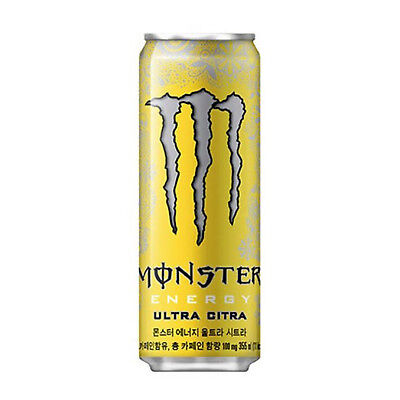 Monster Energy Ultra Citra Drinks Korea Non Alcoholic Can Beverage 355Ml