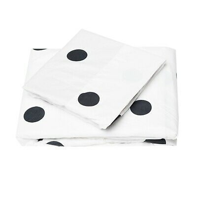 - Cosy House Collection Ultra Soft Polka Dot Pattern Bed Sheet Set - Black & White