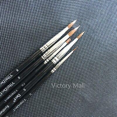 5pcs Dental Finest Porcelain Ermine Brush Pen Set Dental Lab Equipment