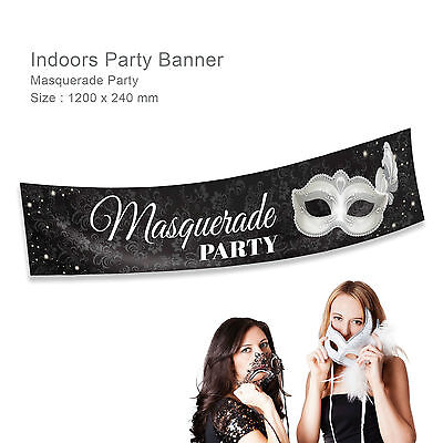 Personalised 21st Birthday Masquerade Ball Mask Gift Idea Party Canvas Banner