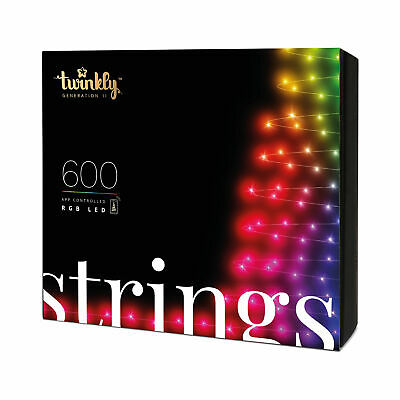Twinkly 600 Led Rgb Multicolor 157.5 Ft Decorative String Lights Bluetooth Wifi